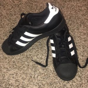 adidas Shoes - Black adidas superstar sneakers